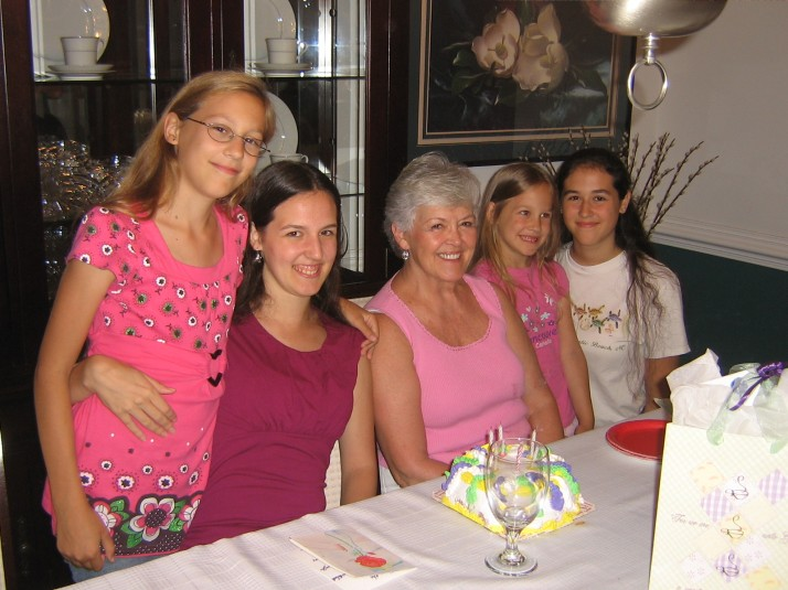 Grammie and girls 8.09