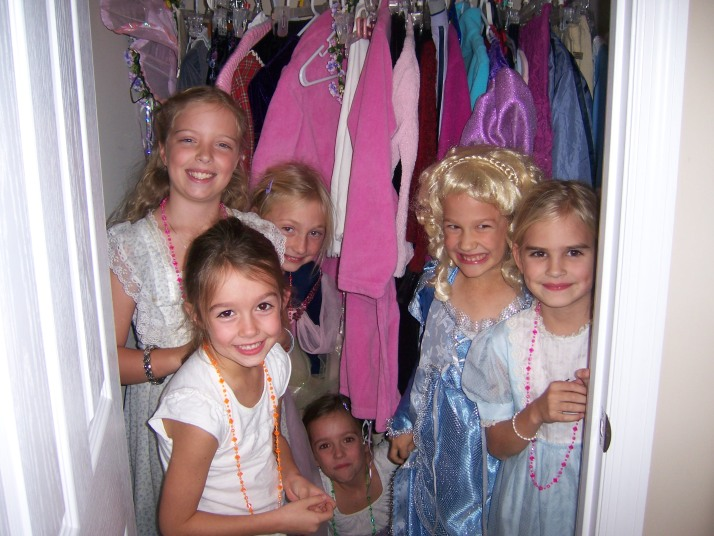 Danielle with other Princesses in the closet 11.7.09