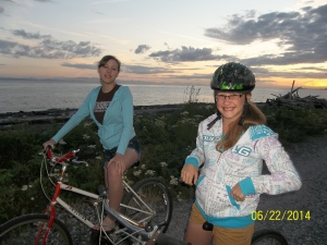 Biking at Lighthouse Park